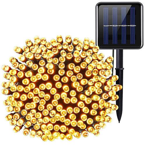 Классическая гирлянда на солнечной батарее 12м
