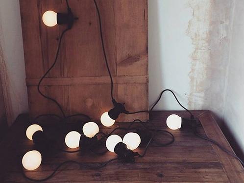 Ретро-гирлянда с матовыми лампочками