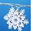 Thumbnail: Гирлянда с металлическими снежинками