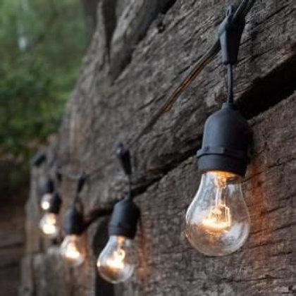 Ретро-гирлянда со свисанием с лампочками накаливания