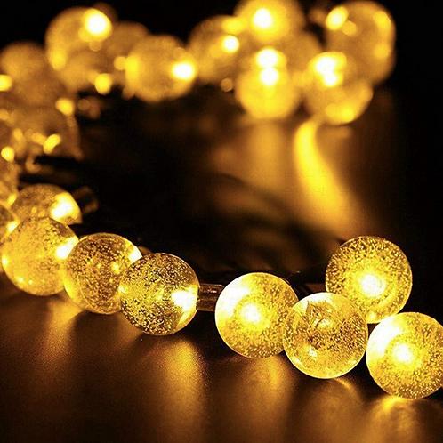 Гирлянда с кристальными шариками