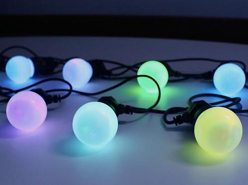 Ретро-гирлянда неоновая с матовыми лампочками