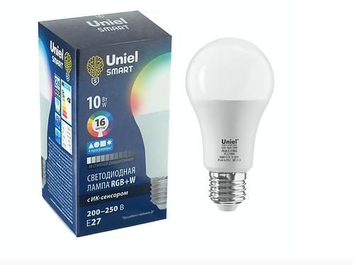 Светодиодная лампочка многоцветная с пультом