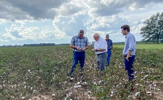 USDA Secretary Sonny Perdue, Rep. Matt Gaetz Talk Hurricane Sally Damage With Local Farmers