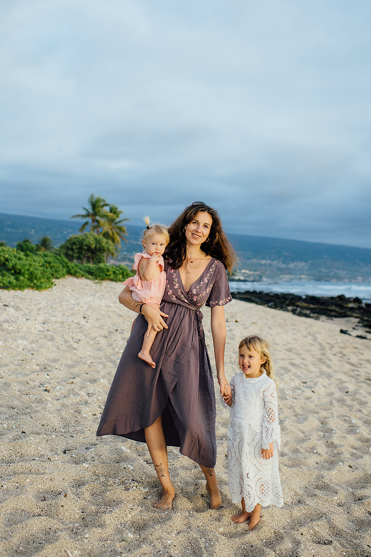 Mama ir dukra, Vaiva Rykstaite, havajai, aloha, motinyste.