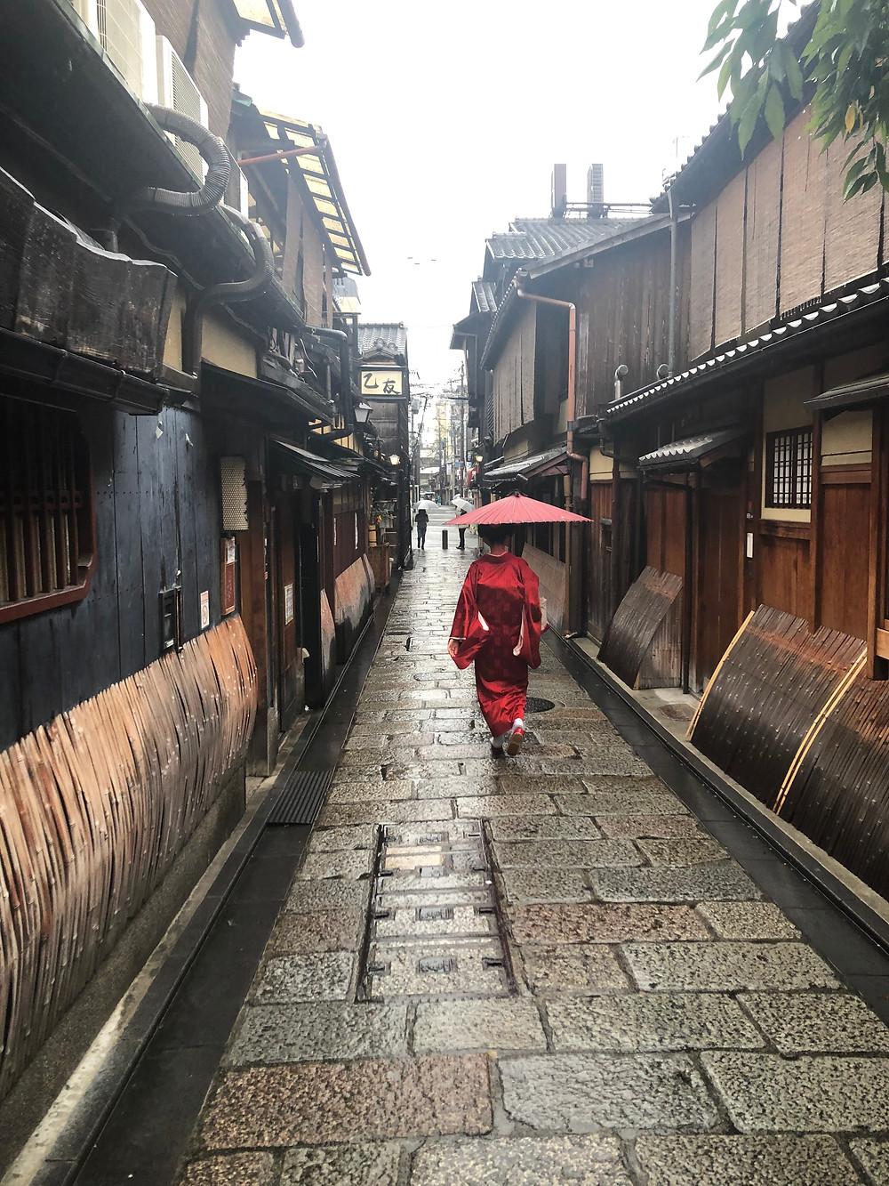 Geisha. Kyoto. Keliauju su vaikais.