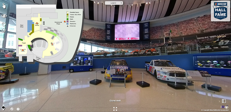 A live example of a Museum's (NASCAR HALL OF FAME) Virtual Tour