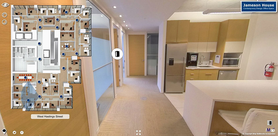 A live example of an office's Virtual Tour