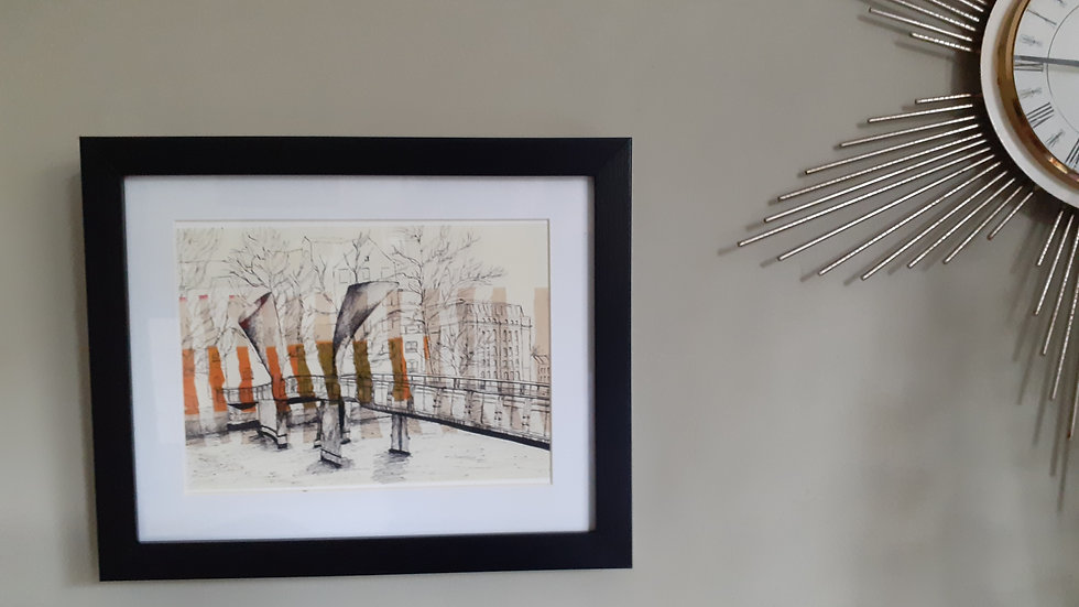 Framed Print of Pero's Bridge by Lisa Malyon