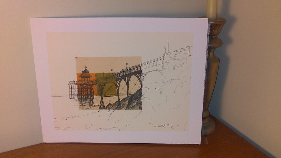 Art Print of Clevedon Grade-I listed Pier, North Somerset