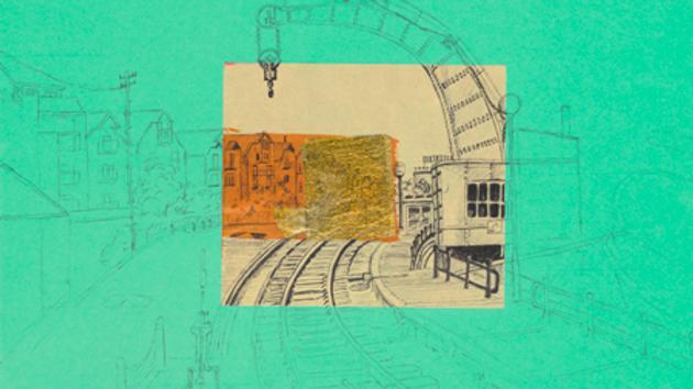 Art Print of Fairbairn Steam Crane on jade