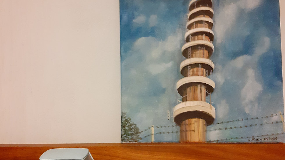 Oil Painting of Bristol's Purdown Tower