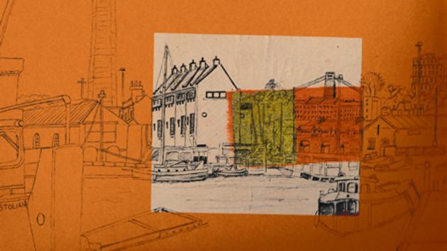 Art Print of Bristol's Underfall Boat Yard on rust