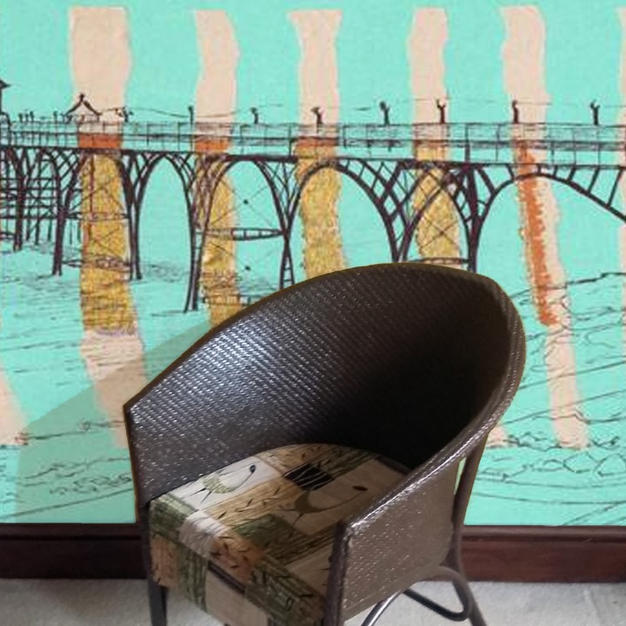 Clevedon Pier on jade as Wallpaper