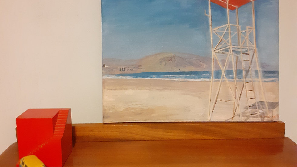 Oil Painting of Iquique Beach, Chile