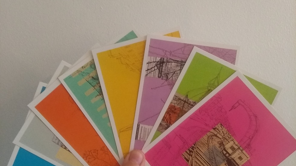 Set of 8 x Bristol Postcards