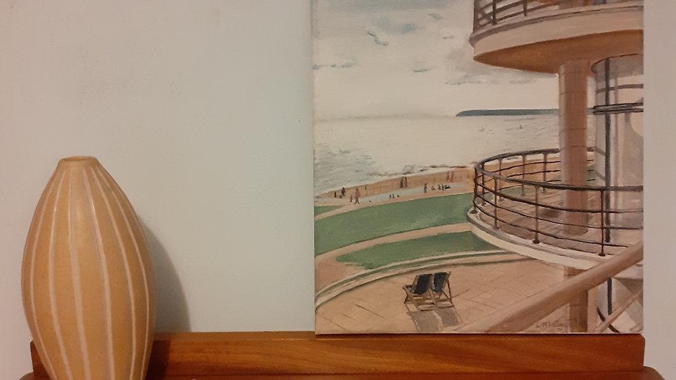 Oil Painting of De La Warr Pavilion, Bexhill-on-Sea