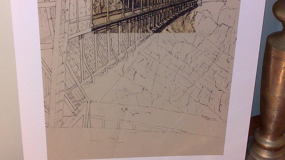 Art Print of Brunel's Clifton Suspension Bridge (portrait view)