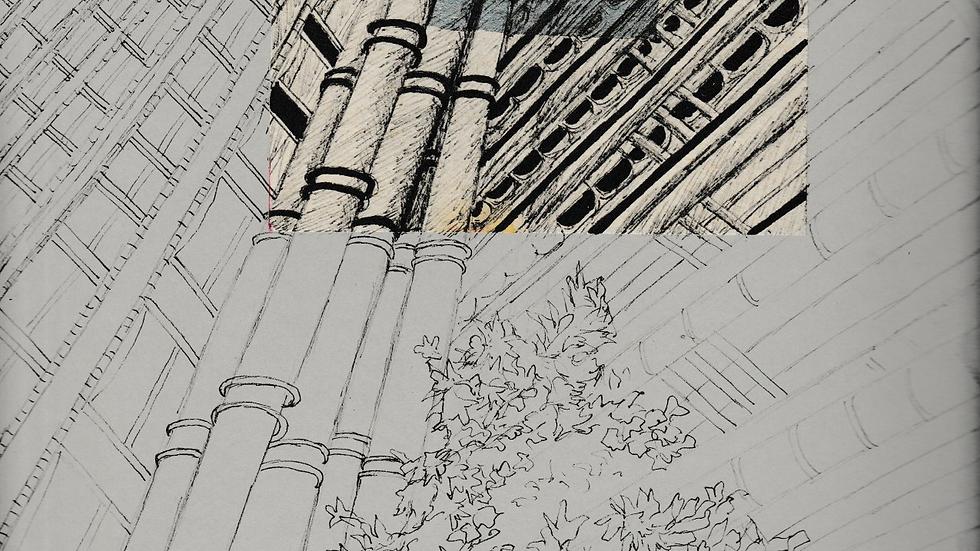 Art Print of Lloyds of London on grey