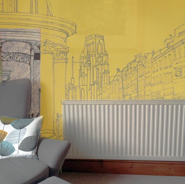 Park Street on yellow as Wallpaper