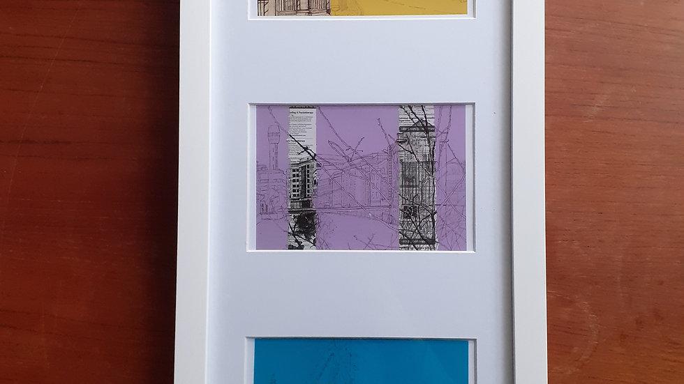 Contemporary Multi-Aperture Framed Postcards