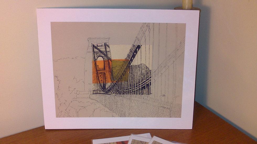 Art Print of Brunel's Clifton Suspension Bridge (landscape view)
