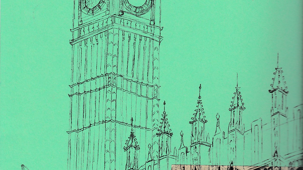 Art Print of Houses of Parliament on jade