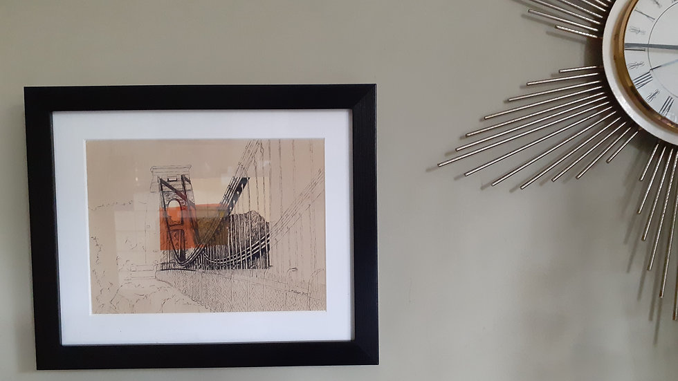 Framed Print of Clifton Suspension Bridge by Lisa Malyon