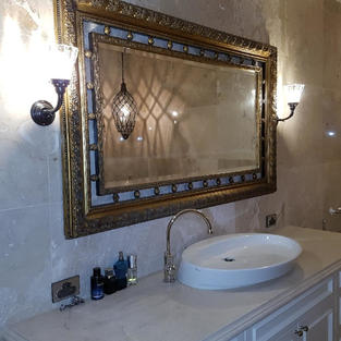 Burton wall lights in Ensuite