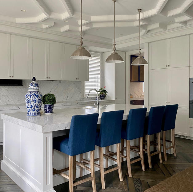 Chloe kitchen lights with metal shades