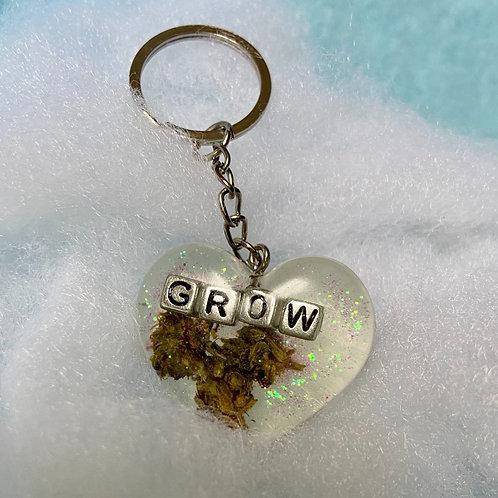 Hemp Grow Clear Keychain