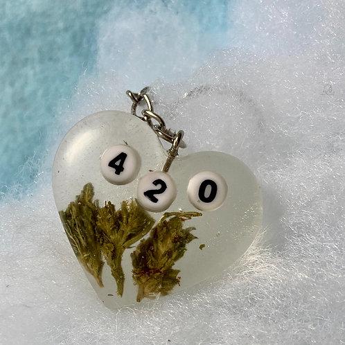 Hemp 420 Clear Keychain