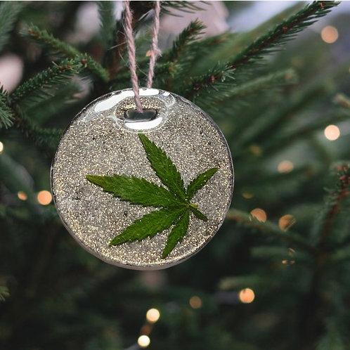 Hemp Leaf Ornament