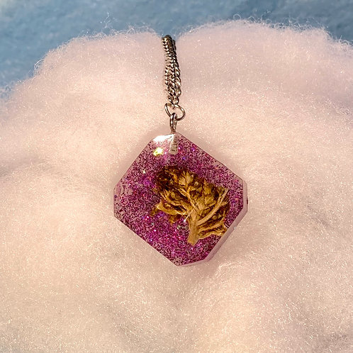 Hemp Purple Glitter Necklace