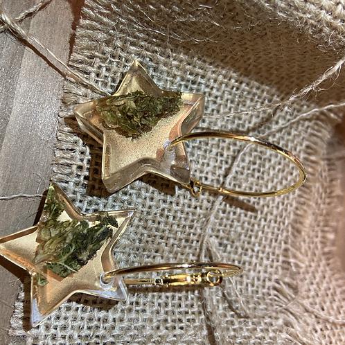 Hemp Gold Earring