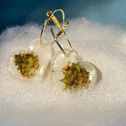 Make your own Hemp Gold/ Silver Earrings