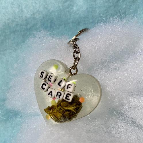 Hemp Self Care Clear Keychain
