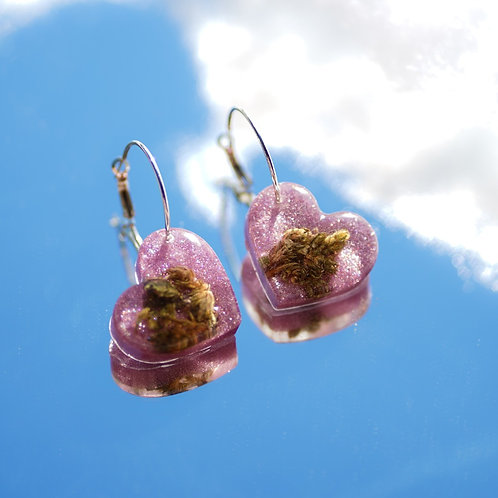 Strawberry Fields Small Heart Earrings