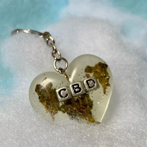 Hemp CBD Clear Keychain