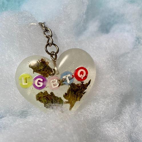 Hemp LGBTQ Colorful Clear Keychain