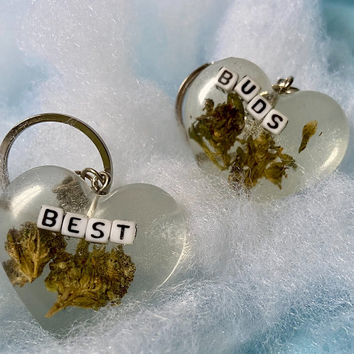 Hemp Best Buds Clear Keychains