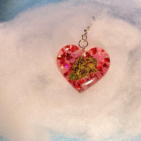 Hemp Red Glitter Keychain
