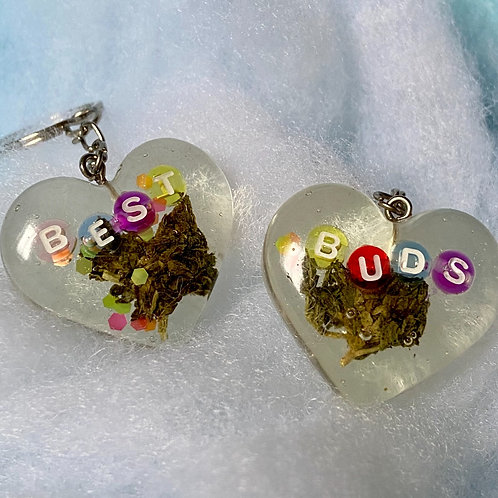 Hemp Best Buds Colorful Clear Keychain set
