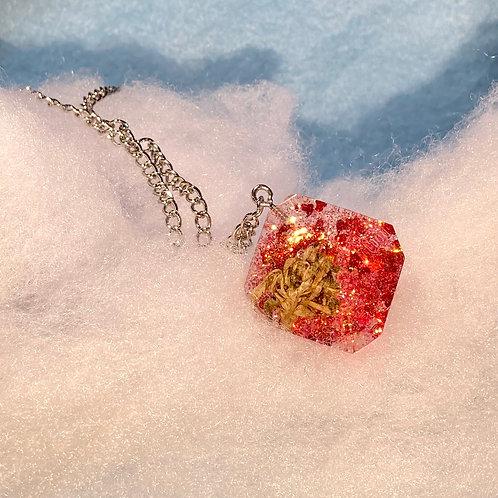 Hemp Red Glitter Necklace
