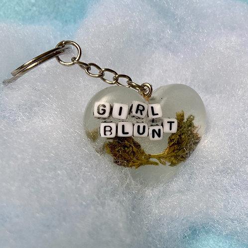 Hemp Girl Blunt Clear Keychain