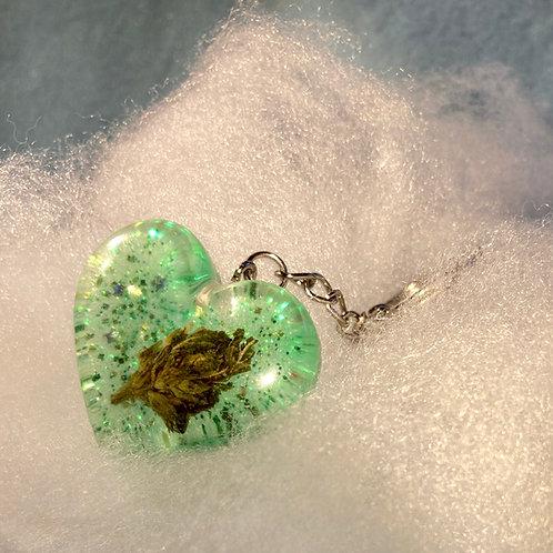 Hemp Green Glitter Keychain