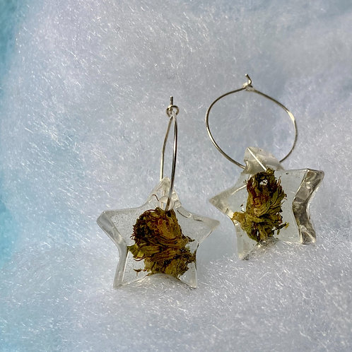 Hemp Clear Small Earring