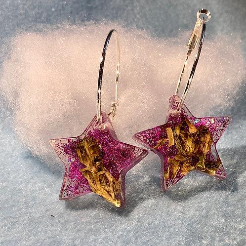 Hemp Purple Earring