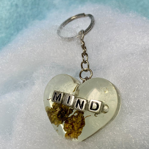 Hemp Mind Silver Clear Keychain