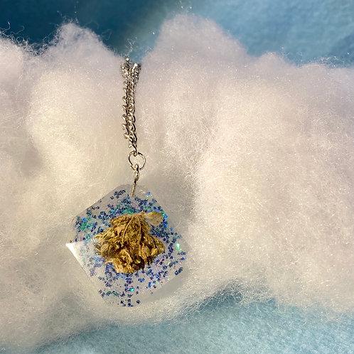 Hemp Blue Glitter Necklace